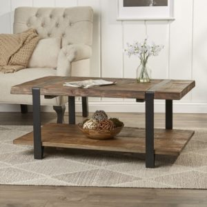 "rustic farmhouse coffee table - 42"" Fallon Coffee Table by Loon Peak"