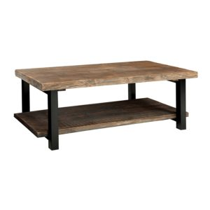 rustic farmhouse coffee table - Alaterre Sonoma Rustic Natural Coffee Table, Brown