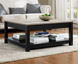 rustic farmhouse coffee table - Ameriwood Home Carver Coffee Table, Black - Amazon