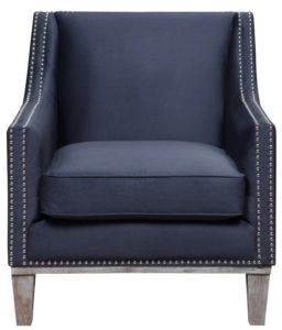 comfortable farmhouse armchair - Bergerac Armchair Blue by One Allium Way via Wayfair