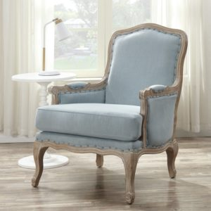 comfortable farmhouse armchair - Clairan Armchair by One Allium Way blue