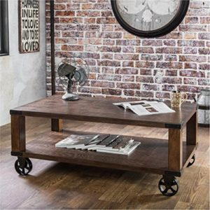 rustic farmhouse coffee table - Furniture of America Royce Living Room Modern Industrial Wood Coffee Table End Table - Amazon