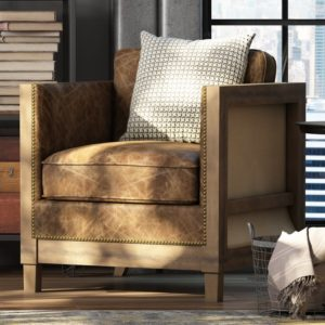 comfortable farmhouse armchair - Grant Armchair by Union Rustic from Wayfair