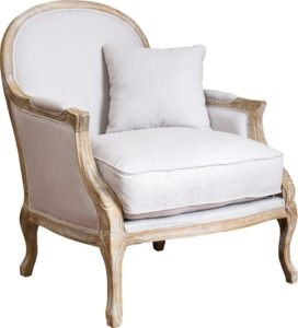 comfortable farmhouse armchair - MacArthur Weathered Armchair by Home Loft Concepts via Wayfair