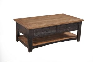 rustic farmhouse coffee table - Martin Svensson Home Rustic Coffee Table, Antique Black and Honey Tobacco - Amazon