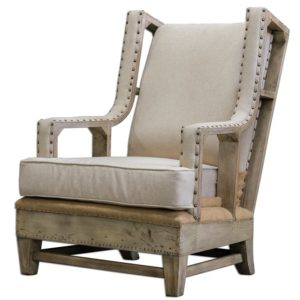 comfortable farmhouse armchair - Schafer Armchair by Uttermost