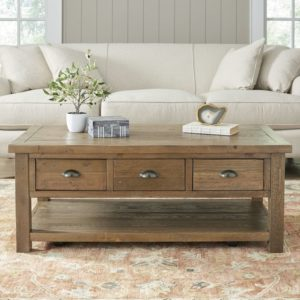 rustic farmhouse coffee table - Seneca Coffee Table by Birch Lane™