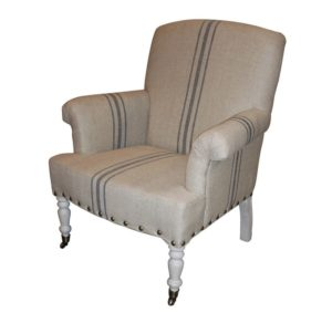 comfortable farmhouse armchair - Serena Armchair by White x White from Wayfair