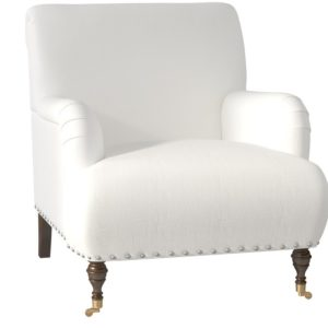 comfortable farmhouse armchair - Shephard Armchair by Birch Lane™ via Wayfair