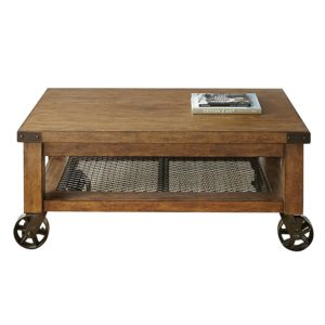 rustic farmhouse coffee table - Steve Silver Company Hailee Cocktail Table - Amazon